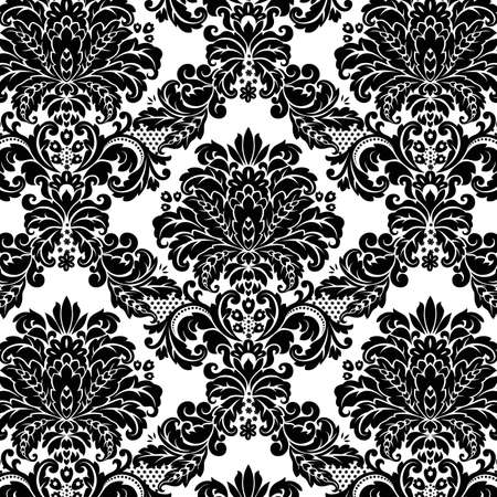 damask: Damask seamless floral background pattern. Vector illustration.