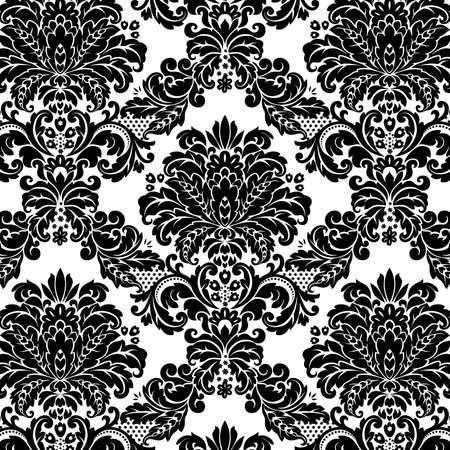 damasco: Patr�n de Damasco fondo floral transparente. Ilustraci�n vectorial. Vectores