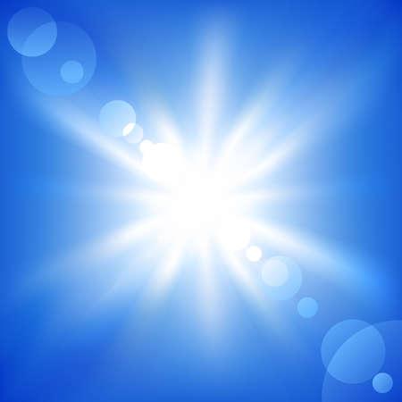 illustration of a sun on a blue sky Stock Vector - 7151104