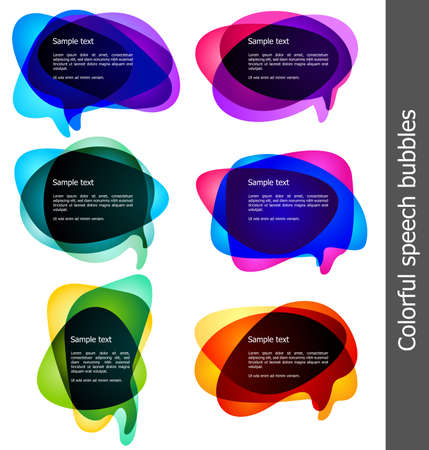 message bubble: colorful  bubbles for speech