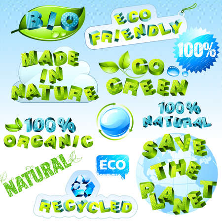 set of  eco icons Vector