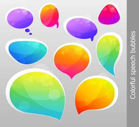 talking bubble:  bubbles for speech