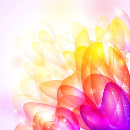 tender: floral bright transparent tender background.  illustration Illustration