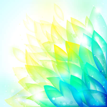 aquamarine: floral bright transparent tender background. illustration Illustration