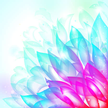 floral bright transparent tender background. illustration Vector