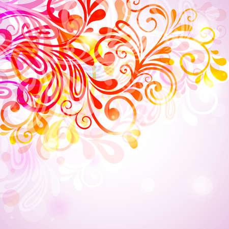 tierno: licitaci�n abstracta floral fondo transparente.  Ilustraci�n