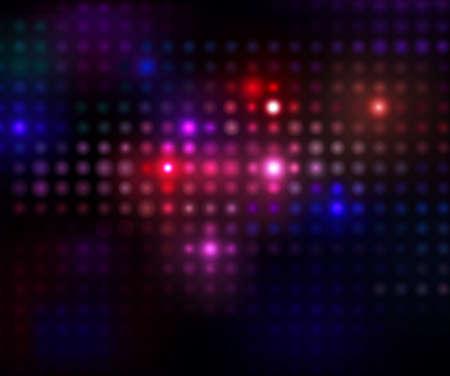 disco lights: colorful disco lights on a black background. illustration Illustration