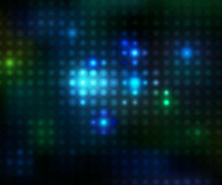 colorful disco lights on a black background. illustration
