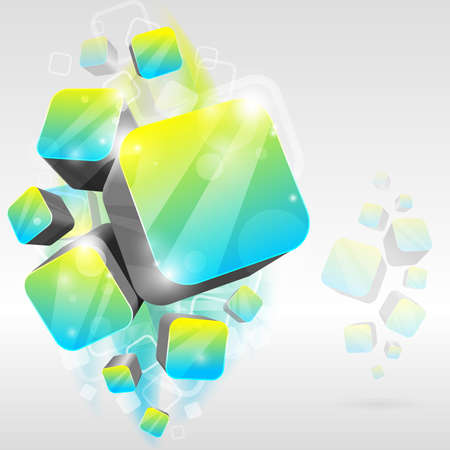 3d bright abstract background -  illustration Vector
