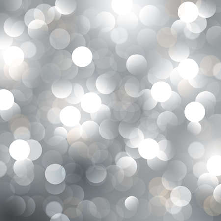 christmas blurred silver background with lights.