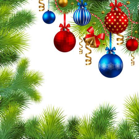 bell bronze bell: marco de Navidad con piedras rojas y azules y �rboles de Navidad