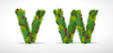 vw: VW, Christmas tree font