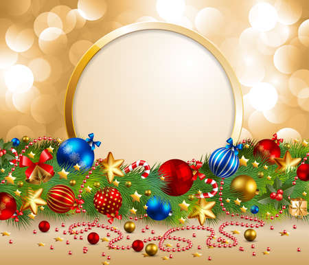 christmas garland with place for text Stock Vector - 8434689
