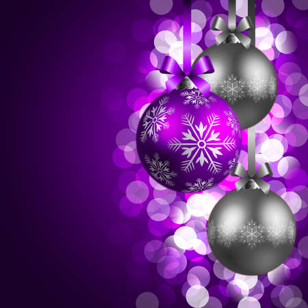 christmas background with baubles Stock Vector - 8434680