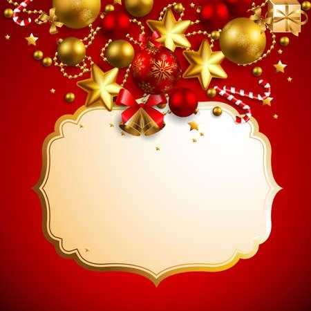 bell bronze bell: hermoso fondo plata de Navidad