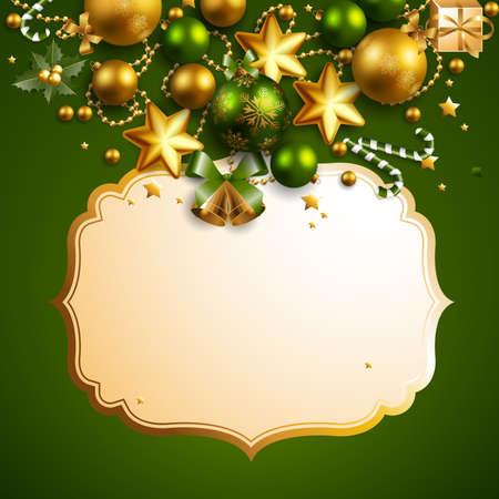 holy place: beautiful green christmas background Illustration