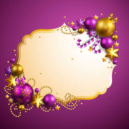 beautiful purple christmas background Vector