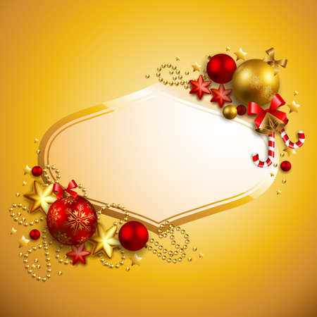 christmas  background with place for text Stock Vector - 8448325