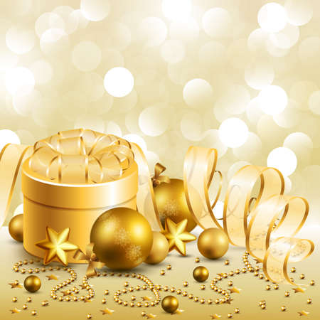 beautiful golden christmas background Vector
