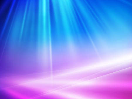 flow of colors: abstract blue background with sun ray`s Illustration