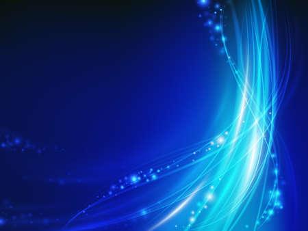 abstracta onda brillante azul con chispa