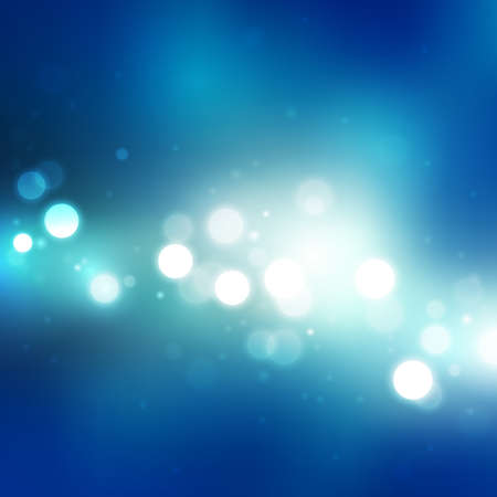 melkachtig: abstracte blauwe achtergrond met wazig lights