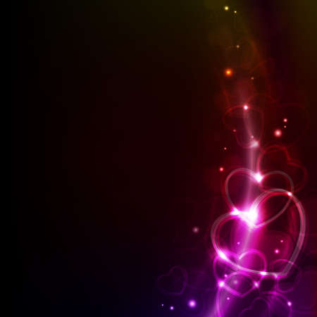 abstract valentin`s day background with hearts Vector