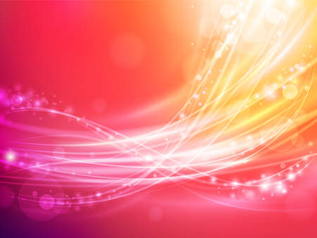 ray light: abstract wave with warm colors and sparks
