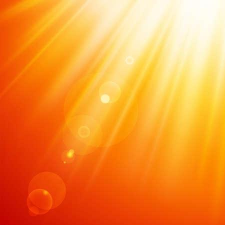 Warm sun light. Vector illustration