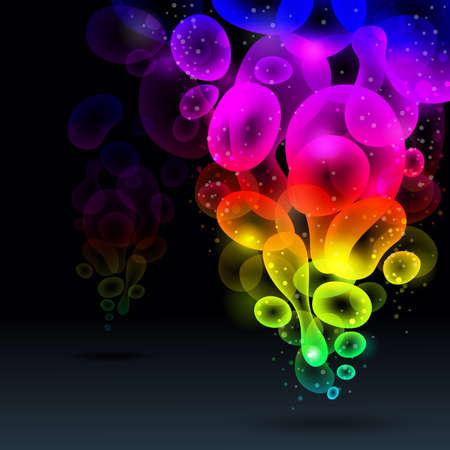 bevoelen: Abstract achtergrond, vector illustratie van de regenboog. Stock Illustratie