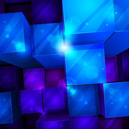 ultramarine: 3d bright abstract background -  illustration Illustration