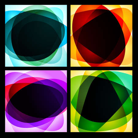 Collection of abstract background.  illustration Vector