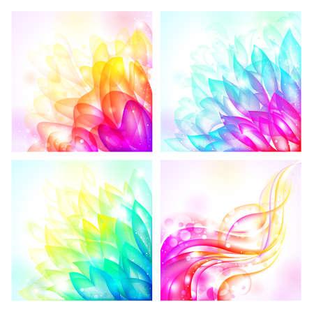 tender: set of bright tender  backgrounds Illustration