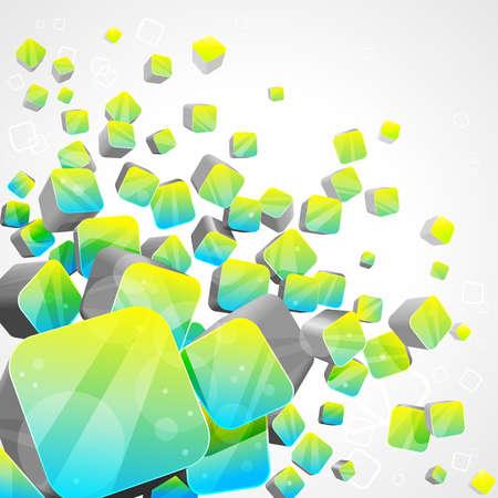 random: 3d bright abstract background -  illustration Illustration
