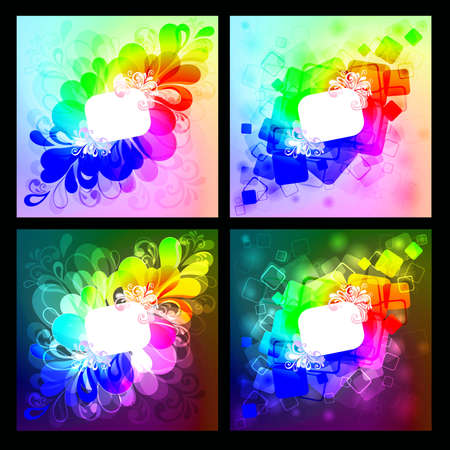Collection of abstract background.   illustration Stock Vector - 8710131