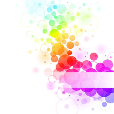 Arcobaleno variopinto trasparente bolle di sfondo. Illustrazione vettoriale