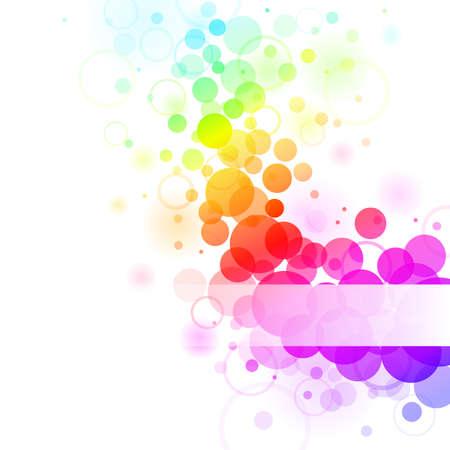 bulles: Arri�re-plan de bulles color� arc-en-ciel transparent. Illustration vectorielle Illustration