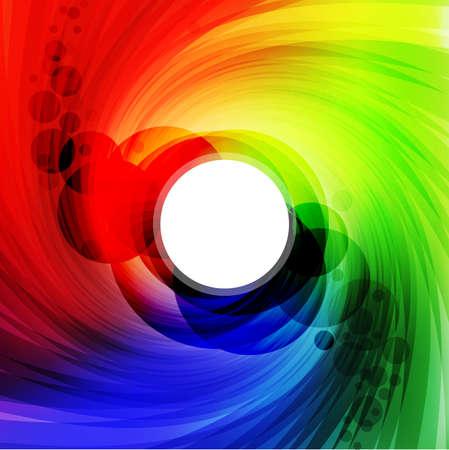 場所とカラフルなスペクトル前部のテキスト。ベクトル イラスト 写真素材 - 8783935