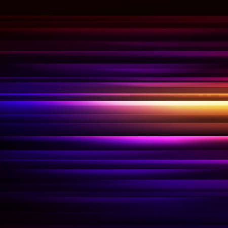 abstract glowing background with colorful stripes on black . Vector illustration Vector