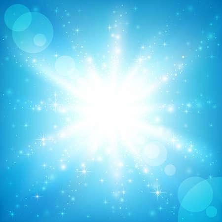 Sun on a blue sky. Vector illustration Stock Vector - 8783888