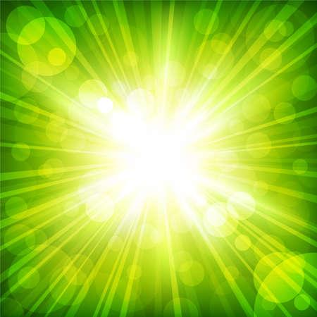 explosie: Zonlicht. Vectorillustratie