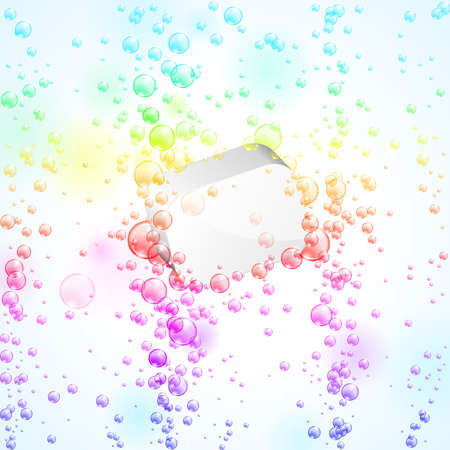 Colorful glowing bubbles under water. Vector illustration Vector