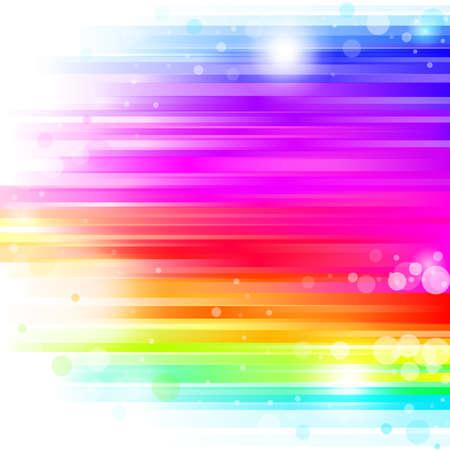 虹の葉柄と抽象的な熱烈な背景。ベクトル イラスト  イラスト・ベクター素材