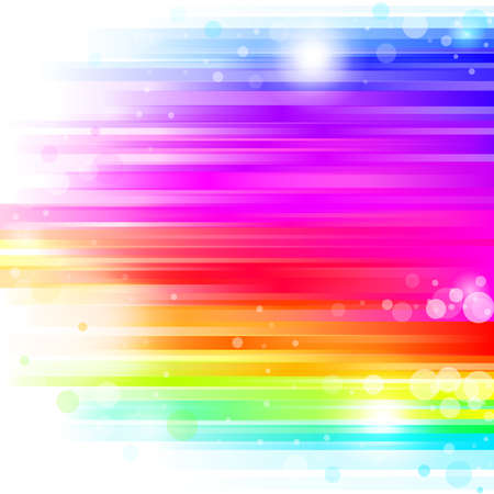 abstract glowing background with rainbow stipes. Vector illustration