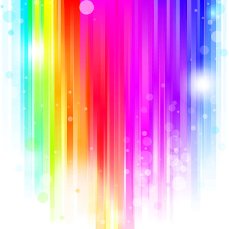 abstract glowing background with rainbow stipes. Vector illustration Stock Vector - 8783899