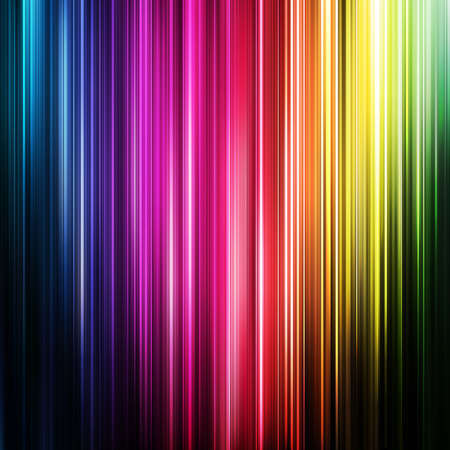 abstract glowing background with rainbow stipes. Vector illustration Vector