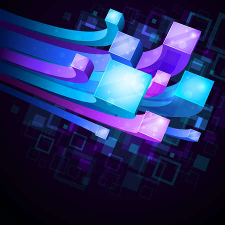 cool backgrounds: 3D brillante fondo abstracto - ilustraci�n vectorial Vectores