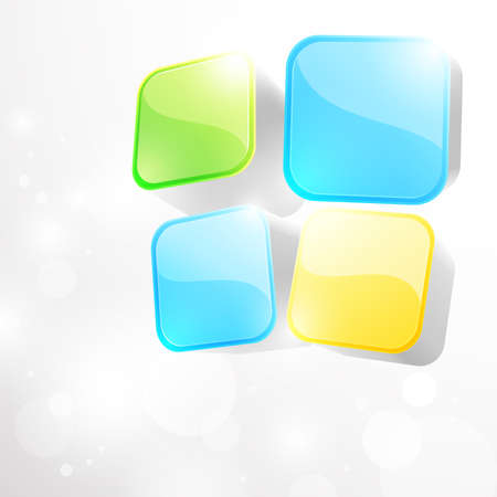 3d bright abstract background with cubes - vector illustration Vector