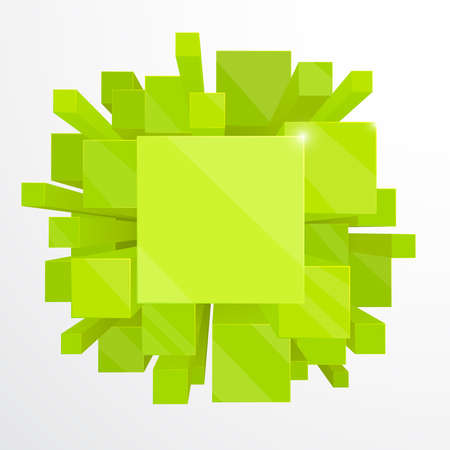 3d green abstract background - vector illustration Vector