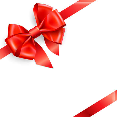 red bow isolated on white. Vector illustration Stock Vector - 8883328
